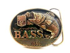Vintage 1986 B.A.S.S. Belt Buckle Made in U.S.A.