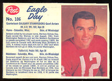 1962 POST CFL FOOTBALL 106 EAGLE DAY VGEX CALGARY STAMPEDERS UNIV OF MISSISSIPPI