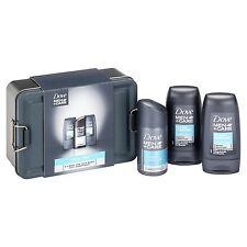Dove Mini Gift Set Men Xmas Present Anti-Perspirant Spray Body Face Wash Travel