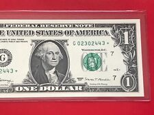 """Wow Star note 2017 $1 DOLLAR BILL ( CHICAGO  """" G """" ) ,UNCIRCULATED"""