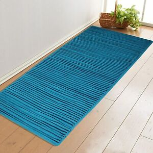 Handwoven Multi Purpose Rugs(Pack Of 1,70x180 cm,Blue Color)Made Of Soft Cotton