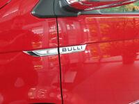 Original VW T6 Transporter Bulli Schriftzug Set Alu matt 7E0853688A, 7E0853688C
