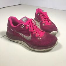87f61947b7a1 Womens 8 EUR 39 Nike Lunarglide+ 5 Running Training Shoes 599395-616 Pink   DB02