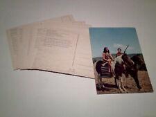 8 Postkarten - Serie  Der letzte Mohikane - Winnetou 1960er  Rialto / Constantin