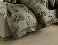 DORMA HARRIET SINGLE DUVET QUILT COVER LUXURIOUS WOVEN DAMASK JACQUARD BNIP