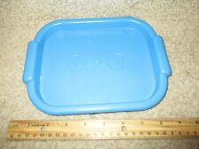 Fisher Price Fun w/ Food Blue serving tray lunch tea dinner TV snack dessert FP