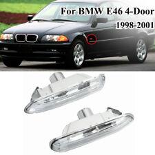 Pair Turn Indicator Side Marker Lights For BMW 3 Series E46 4Dr 99-01 /2Dr 99-03