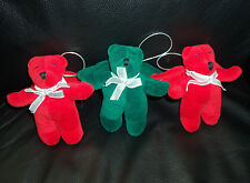 Lot of 3 Harold Angel Teddy Bear Ornaments Vintage North American Bear 1988