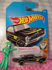 '67 PONTIAC GTO #69✰black;yellow; mc5✰Muscle Mania✰2017 i Hot Wheels Case C/D