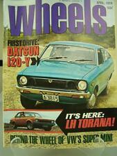 Wheels Magazine April 1974 Datsun 120Y, LH Torana, VW super mini