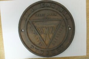 pasley demon gas engines & dynamos cast iron plate sherborne dorset vintage