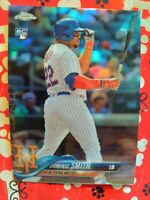 2018 TOPPS CHROME DOMINIC SMITH REFRACTOR (ROOKIE CARD) NEW YORK METS