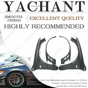 FRP vtx-cb-Style +20mm Front Fender with Flare For Mitsubishi Lancer EVO 7 8 9