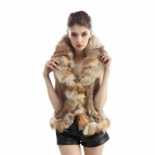 Unbranded Collared Regular Size Fur Waistcoats for Women