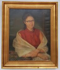 Prachtvoller Ölgemälde Portrait Frau Gerahmt excellente Künstlerarbeit