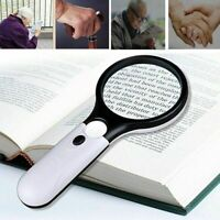 Hand Held Detachable 45x Magnifying Glass Lens Magnifier Loupe w/ LED Lights