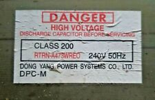 SHARP RTRN-A473WREO MICROWAVE MAIN High POWER TRANSFORMER  240V 50Hz