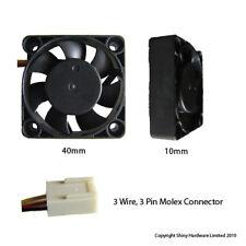Evercool 40mm 4cm 40 x 40 x 10mm 3 Pin 12 Volt PC Case Fan (M) EC4010M12