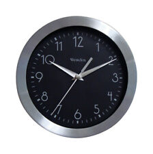 "NEW! WESTCLOX Wound Wall Clock 9"" Aluminum 36001"