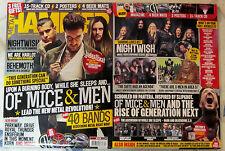 METAL HAMMER + Free CD April 2015 OF MICE & MEN + 2 Posters 4 BEER MATS 40 Bands