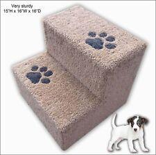 """Sturdy Dog Steps with paw prints 15"""" H x 16"""" W x 16"""" D. Dog Steps, Cat stairs."""