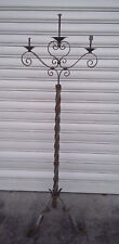 Antique large floor lamp forged iron