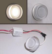 SEGNA PASSO TONDO - MINI SPOT LED - ALLUMINIO + PLEXIGLASS uso interno  da 1 W