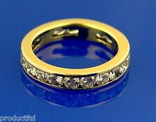 YG 18K Yellow Gold  2.1ct  21-Round Brilliant Cut Diamond Eternity Ring, G-H/VS