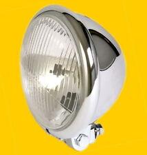 Hauptscheinwerfer Scheinwerfer Lampe Bates 12V H4 Chrom E-geprüft TÜV verchromt