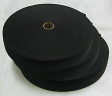 "New Lot of 3 Black Knitted Elastic Rolls 1-1/2"" Width 50 Yards Length Per Roll"