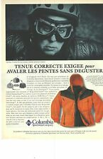 PUBLICITE ADVERTISING  1996  COLUMBIA vetements de sport  Ma' BOYLE PDG