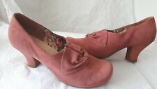 HOTTER DONNA SUEADE DUSKY/ROSE PINK  COURT SHOES SIZE UK 8