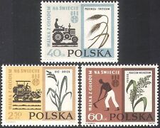 Pologne 1963 FAO/FHH/tracteur/Blé/Riz/Plantes/FREEDOM FROM HUNGER 3 V (n30548)