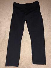Lululemon Sknny Fit 3/4 Leggings size 6 Black Workout