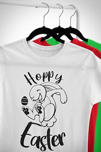 Hoppy Easter Bunny T-Shirt Kids Childrens Cute Cool Novelty Happy Gift Egg Tee.