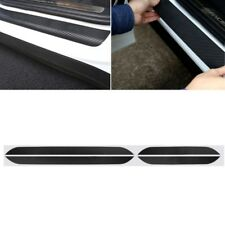 4 Pcs Black Car Door Pedal Plate Sill Scuff Cover Sticker For Mitsubishi Lancer