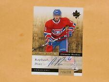 2011-12 Ultimate Rookie Autographed  Hockey Card #117 Raphael Diaz /299