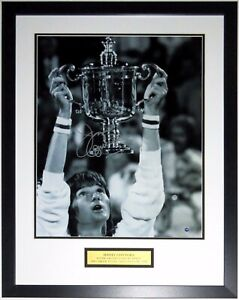 Jimmy Connors Autographed US Open 16x20 Photo Steiner COA Framed Champion Plate