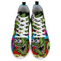 New Rat Fink Men's Lightweight High Top Sneakers Walking Shoes Size 6, 9 to 11.5