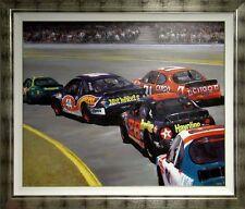 """Luigi Rocca ART Original Painting""""Daytona"""" Car Race Hand Signed Make an Offer"""