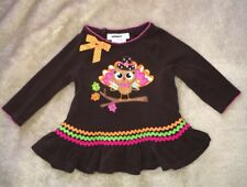 Bonnie Baby Dress Girls 6-9 Mos. Thanksgiving Brown Turkey