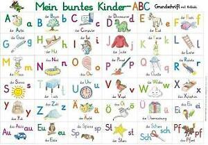 Mein buntes Kinder-ABC in Grundschrift mit Artikeln