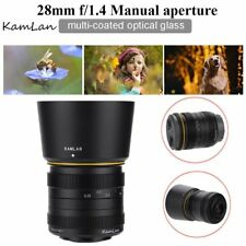 Kamlan 28mm f1.4 APS-C Large Aperture Manual Focus Lens For For Sony E-Mount