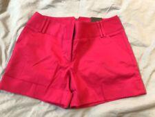 Women's Express Dark Hot Pink Dress Shorts Cuff 6