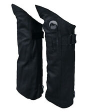 Genuine Leather Half Chaps Boot Pant Protectors Leggings Leg Guards SMALL
