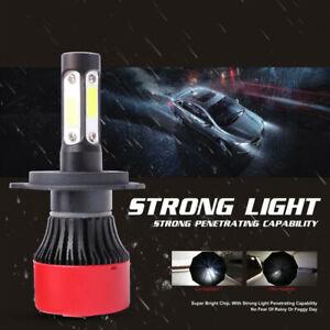 2X H4 9003 240W 20000LM LED Headlight Globes Bulbs Kits High Low Beam 6000K Whit