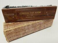 Vintage Advertising Clothes Brush in Box CLAYTON TAP ROOM Waukegan, Illinois USA