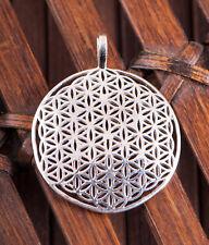 Anhänger Silber925 Vollendete Blume des Lebens gewölbt Meditation Silberschmuck