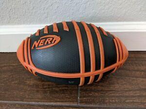 "9"" Hasbro Nerf Sports Weather Blitz Football Black & Orange Soft Extra Grip Toy"
