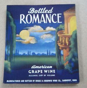 Lot of 50 Old Vintage 1930's - Bottled ROMANCE - Wine LABELS - R. Atkinson FOX